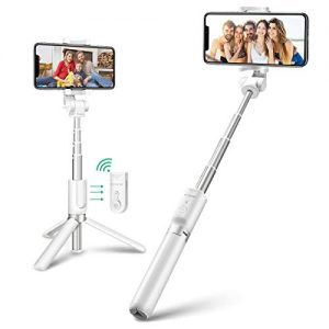 BlitzWolf Bluetooth Selfie Stick Tripod, Extendable Phone Tripod Selfie Stick with Wireless Remote and Mini Pocket Selfie Stick for iPhone X/8/8P/7/7P/6s/6, Galaxy S9/S8/S7/Note 9/8, Huawei and More
